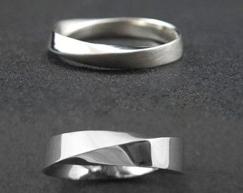 Wedding Rings Mobius Band Set His And Hers By Benati