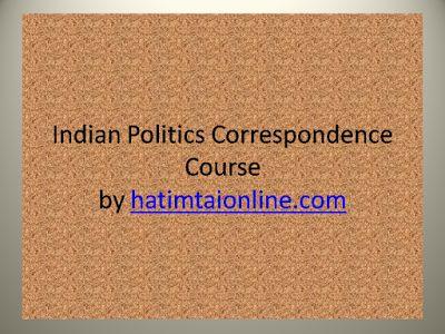 hatimtaionline.com: Indian Politics Correspondence Course