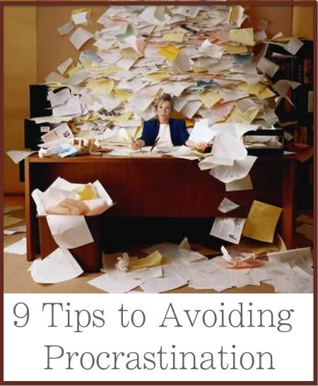 9 Tricks to Avoid Procrastination: http://positivemed.com/2013/09/18/9-tips-avoiding-procrastination/