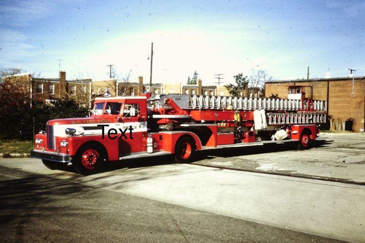 Fire Apparatus Slide Washington DC D.C. Fire Dept. Pirsch TDA Truck 8