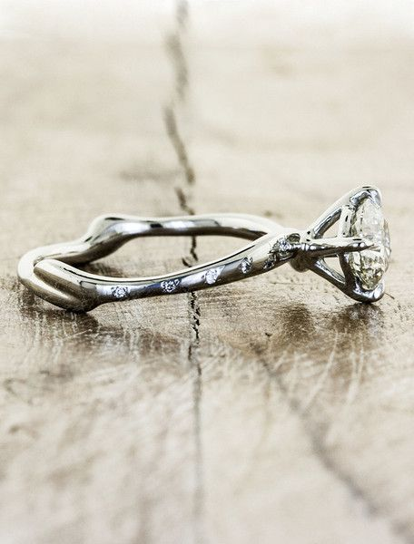aurora diamonds organic engagement ringsdisney - Nature Inspired Wedding Rings