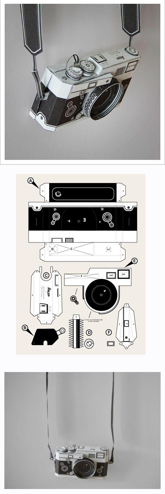 DIY paper Leica camera by Matthew Nicholson PDF £3.00