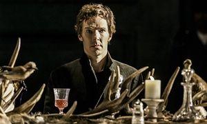 Benedict Cumberbatch in Hamlet at the Barbican.