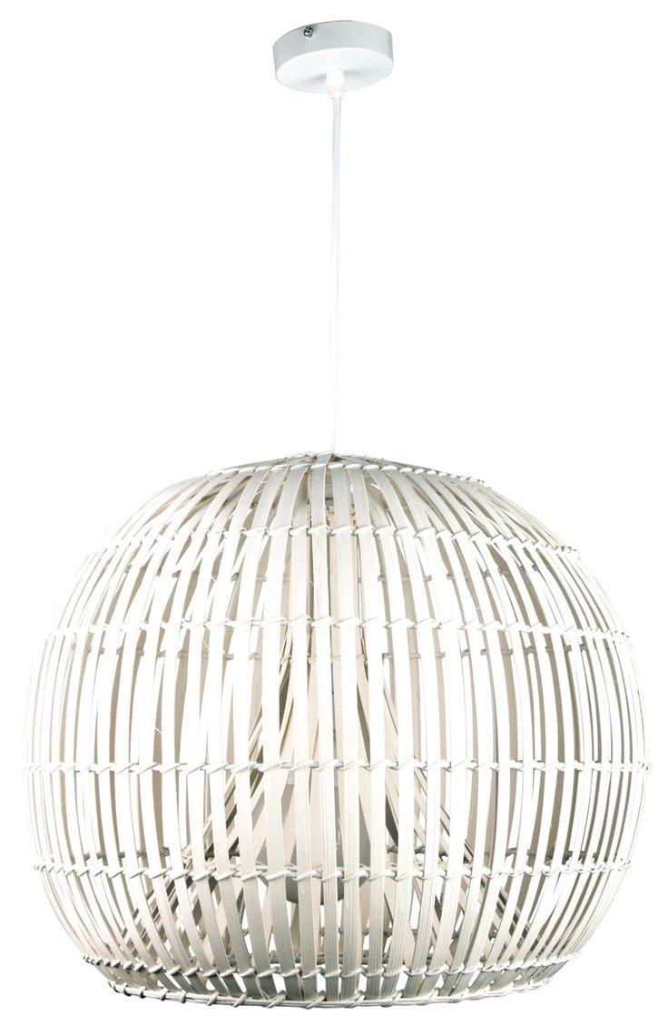 Pendant Light Brown or White E27 in 36cm 51cm or 72cm Satori Oriel Lighting