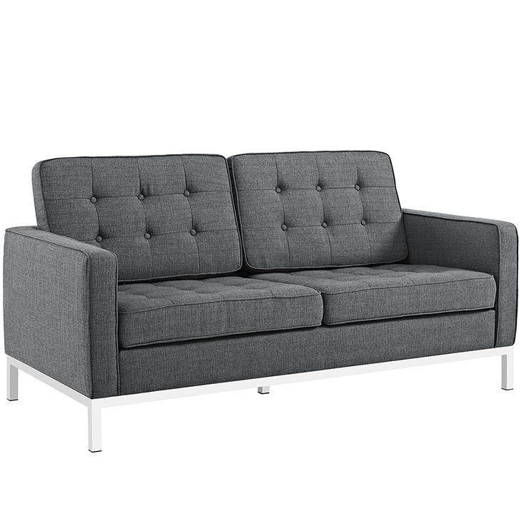 Modway Furniture Modern Loft Fabric Loveseat