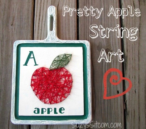 Another Cent Saved | Pretty String Art- A is for Apple!