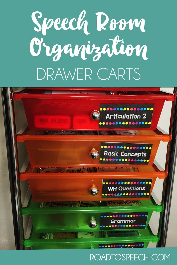 5 Ways for SLPs to Use Drawer Carts - Keep your speech room organized with this amazing tool!