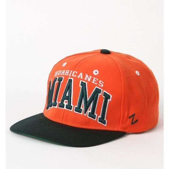 NEW ZEPHYR ORANGE MIAMI HURRICANES STRAP BACK BASEBALL CAP HAT NWT #Zephyr #MiamiHurricanes