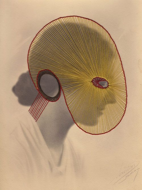 Embroidery on found vintage photographs, by Maurizio Anzeri.