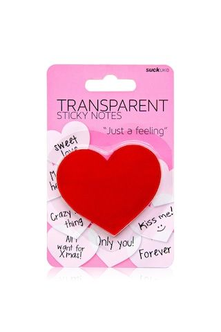 Leave a message from your heart with Suck UK™'s transparent sticky notes.