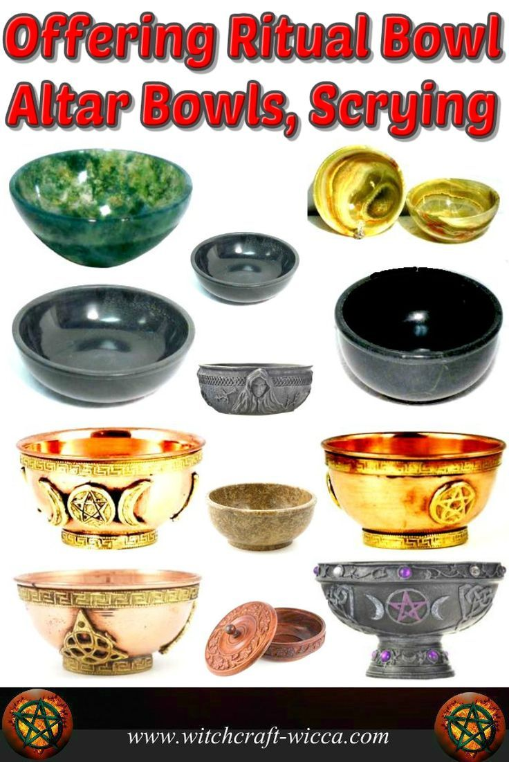 Altar Bowls Scrying Offering Ritual Bowl, witch items