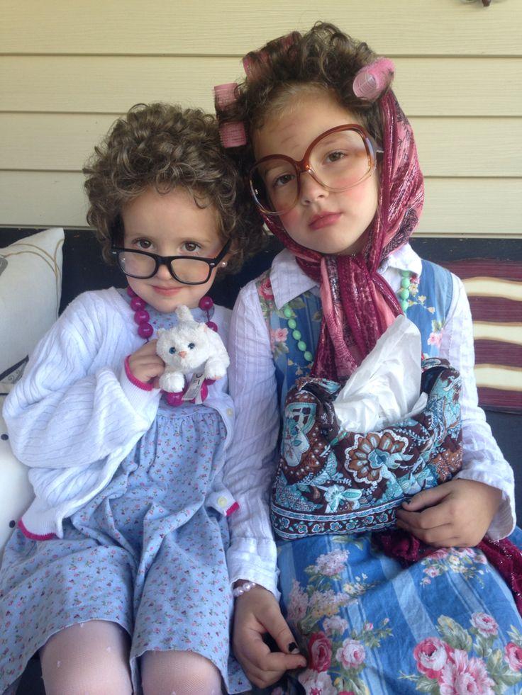 Old Ladies - Kid Halloween Costumes.