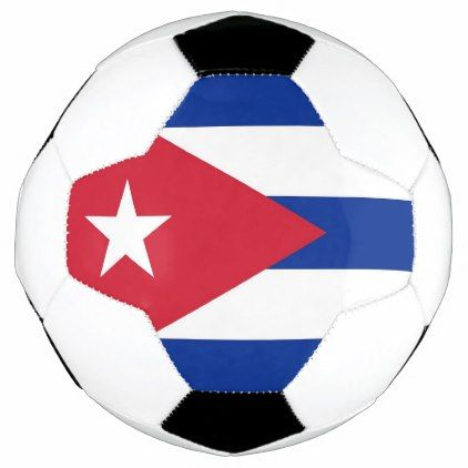 Patriotic Soccer Ball with Cuba Flag - elegant gifts gift ideas custom presents