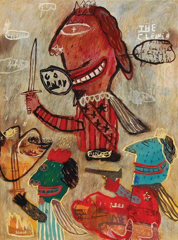 "Saatchi Online Artist: deny pribadi; Acrylic, Painting ""the cleaner ""."