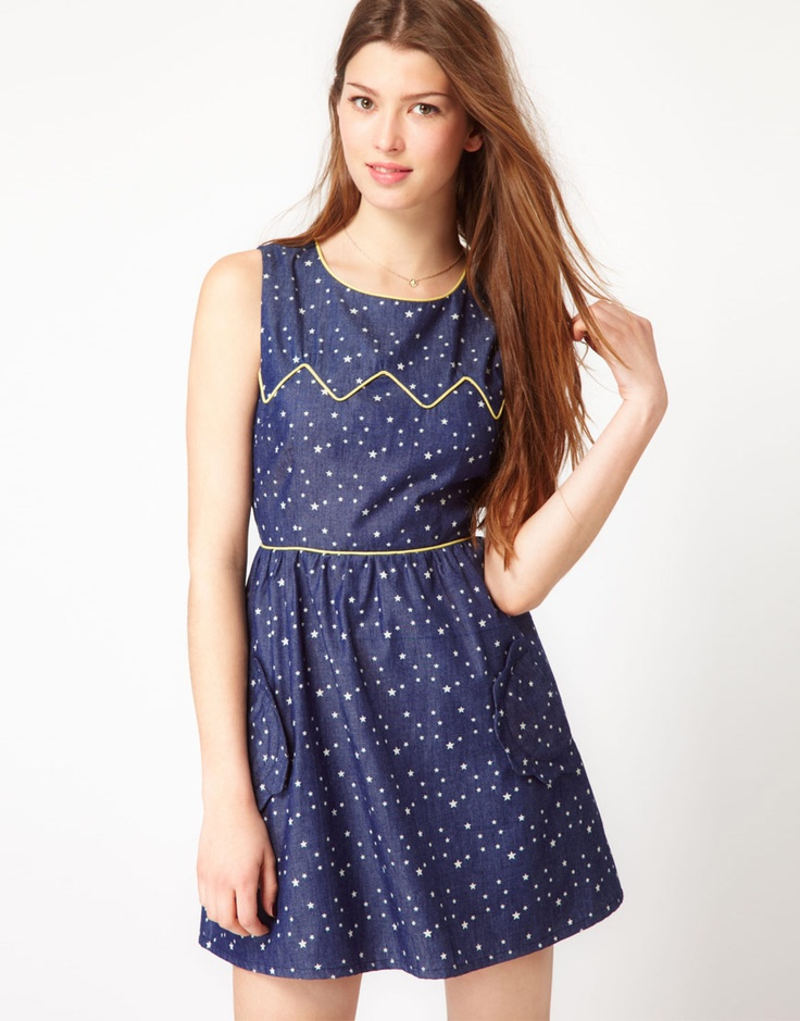 Max c chambray dress with star print style pinterest for Cuisine you chambray