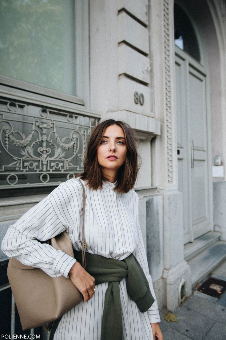 POLIENNE by Paulien Riemis // wearing a hoodie, striped shirt dress and cut out boots // Fashion blog from Antwerp, Belgium