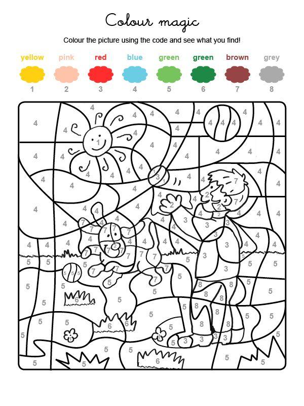 3279-colour-by-numbers-un-chien-qui-joue.jpg (600×800) | desene ...