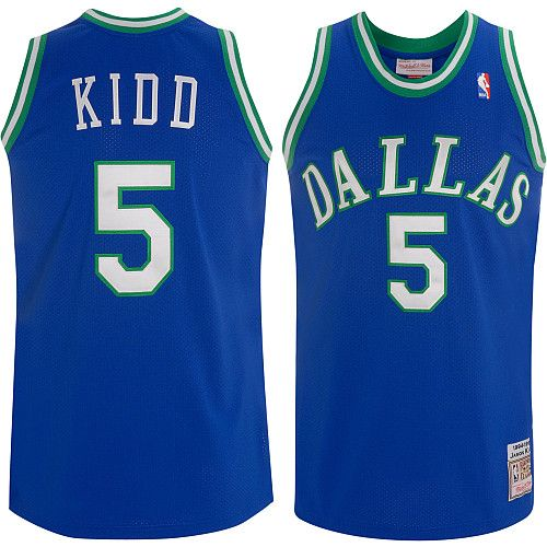 Dallas Mavericks Jason Kidd 5 Blue Authentic Jersey Sale