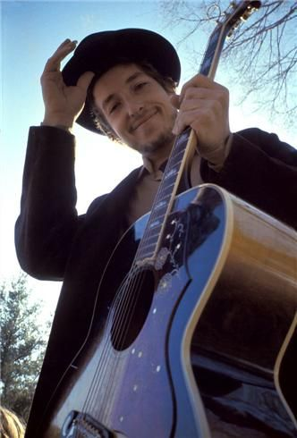 Bob Dylan, Woodstock, NY, 1968 - I saw this picture on a wall somewhere today. It's serendipity, I tell you.