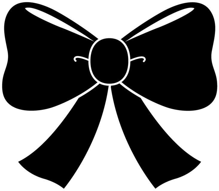 hair bow silhouette