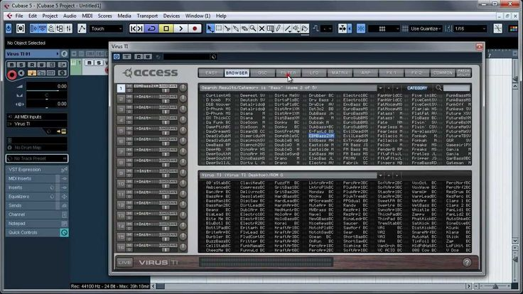Cubase 5 - Virus TI VSTi to Audio channel tutorial
