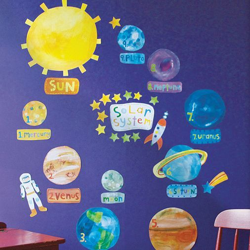 Tesco direct: Solar System Children's Wall Stickers