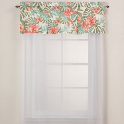 J. Queen New York™ Pompano Tropical Window Valance - BedBathandBeyond.com