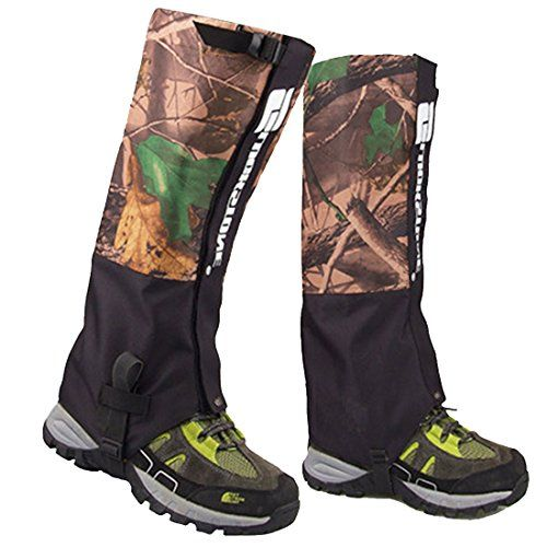 AMYIPO Unisex Snow Leg Gaiter, Front Opening Velcro Design Gaiter, Hiking Boots Gaiters Waterproof Gaiters (Camo) ** Continue to the product at the image link.