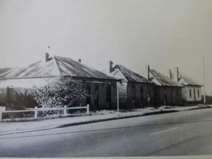 Workmen's Cottages in George St,Parramatta.Built in the 1800s and demolished in 1972 for a car park.A♥W