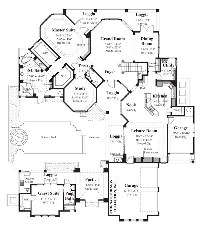 74 best images about courtyard house plans the sater for Sater home designs