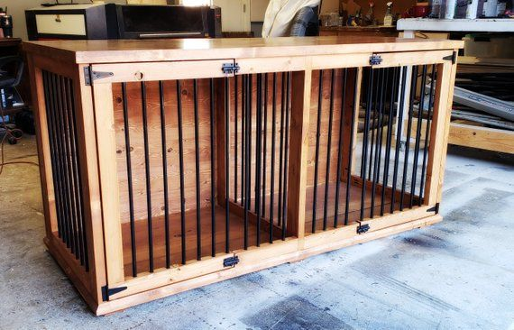 Double Dog Kennel Hand Crafted Dog Kennel Kennel Wood Dog