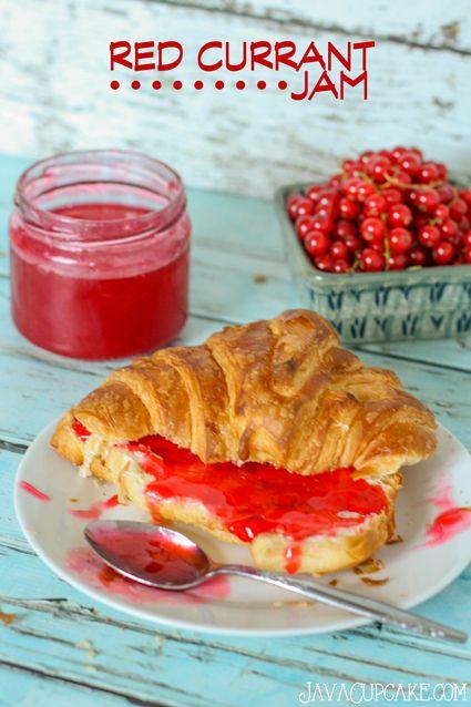 15-minute Red Currant Jam #RedCurrantWeek | JavaCupcake.com