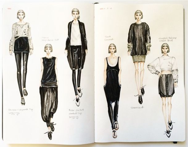 http://hand.fashionary.org/post/103780237110/fashiondesigner-muse-from-sketch-to-runway