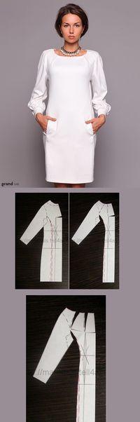 платье, белое платье, прямое платье, женственно
