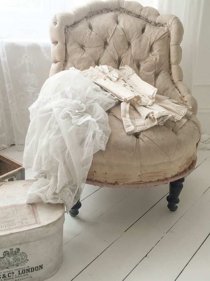 Beautiful antique French deconstructed chair