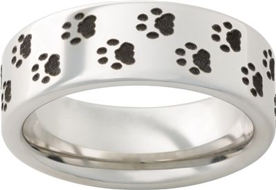 Vitalium Metal Band with Bear Prints - Available at Martin Jewelry at Westroads Mall in Omaha, NE.  402-397-3771.  www.martinjewelry.net.