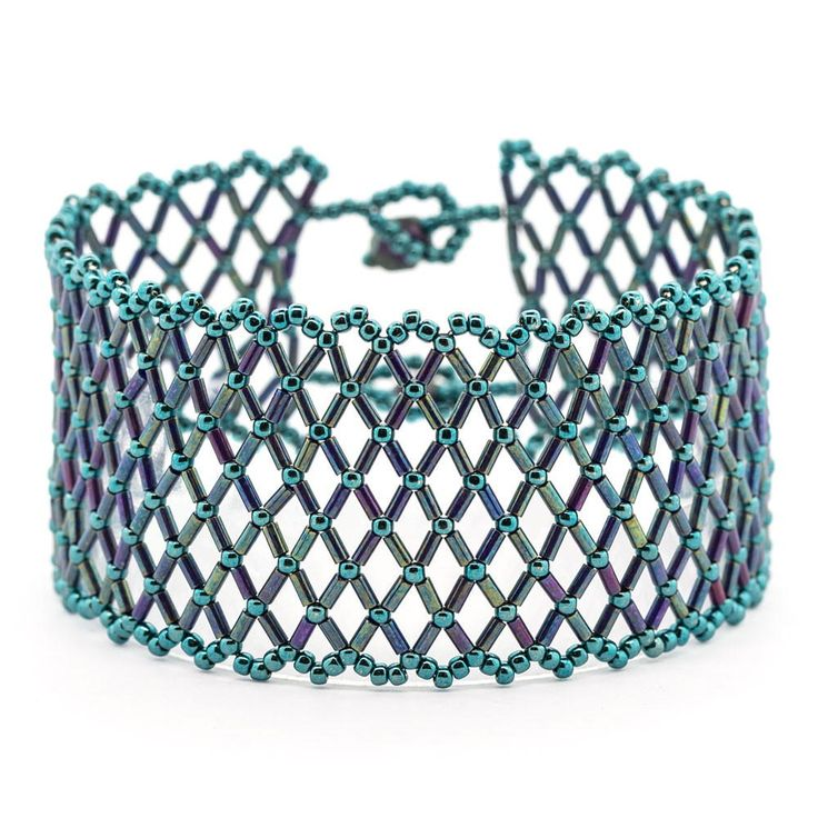 This Mermaid Magic DIY Bracelet uses a netting stitch bead weaving technique to create a true blue beauty. Like sunlight on the water, this dazzling DIY cuff is a magical sight to behold. Make your own with these instructions from Fusion Beads.