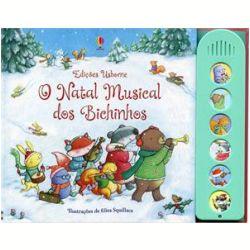 O Natal musical dos bichinhos. Divirta-se com os animais da floresta enquanto eles ensaiam belas músicas natalinas para o concerto. As pequenas mãozinhas vão adorar apertar os botões para ouvir canções com a temática do Natal. As crianças poderão ouvir o Esquilo tocar flauta, a harpa da Dona Toupeira, o violino da Raposa, entre outros.
