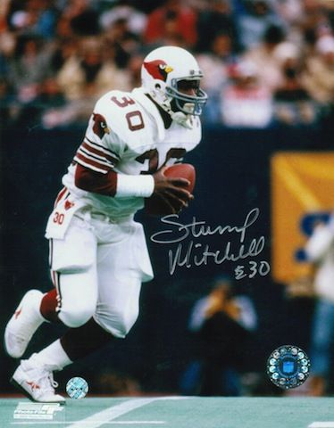 Autographed Stump Mitchell St. Louis Cardinals (Football) 8x10 Photo..