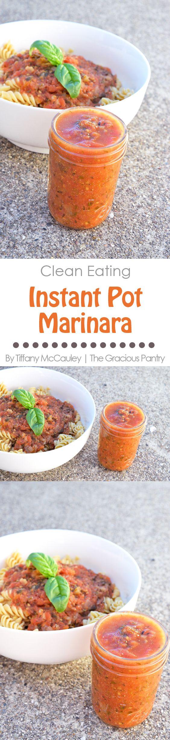 Clean Eating Instant Pot Marinara Recipe | The Gracious Pantry