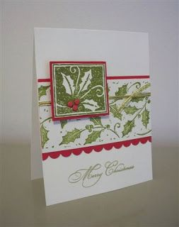 I have that square stamp and was never  sure how to use it the best way.  Thank you LaLatty Stamp 'N Stuff: Christmas Cards