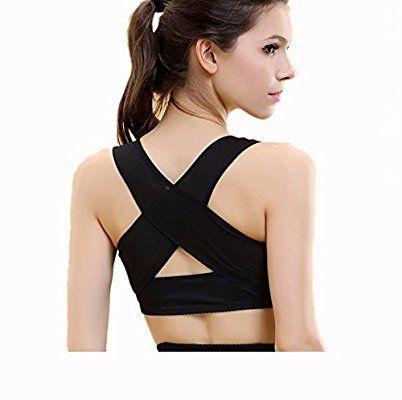 ACME Damen Einstellbare Geradehalter zur Haltungskorrektur Rückenbandage Geradehalter BH für Rücken