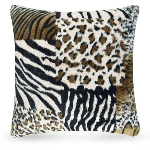 Vue Multi Patchwork Faux Fur Pillow (945 PHP) ❤ liked on Polyvore featuring home, home decor, throw pillows, multi, black accent pillows, black home decor, brown accent pillows, patchwork throw pillows and plush throw pillows