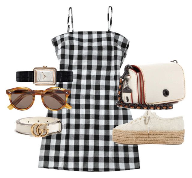 """""""Untitled #21860"""" by florencia95 ❤ liked on Polyvore featuring Superga, Coach, Illesteva, Chanel and Gucci"""
