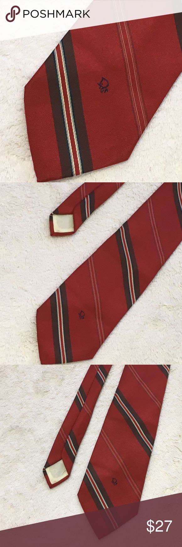 Christian Dior men's tie red & brown Christian Dior men's tie red & brown  Believe this is vintage from the 60's? Unsure but in great shape Christian Dior Accessories Ties