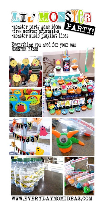 Little Monster Party Ideas: games, activities, decorations, tutorials, crafts, recipes, music and free printables! Everything you need for your own monster bash! #monster #party
