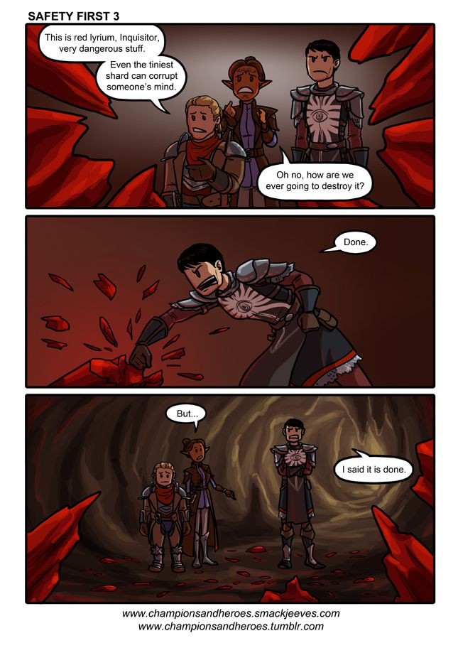 Champions and Heroes - Age of Dragons :: Comics - Safety First 3