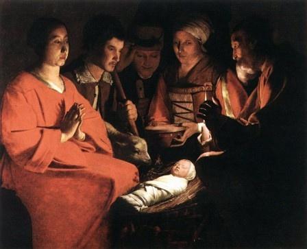 La Adoración de los pastores, George de la Tour, 1644, Louvre.