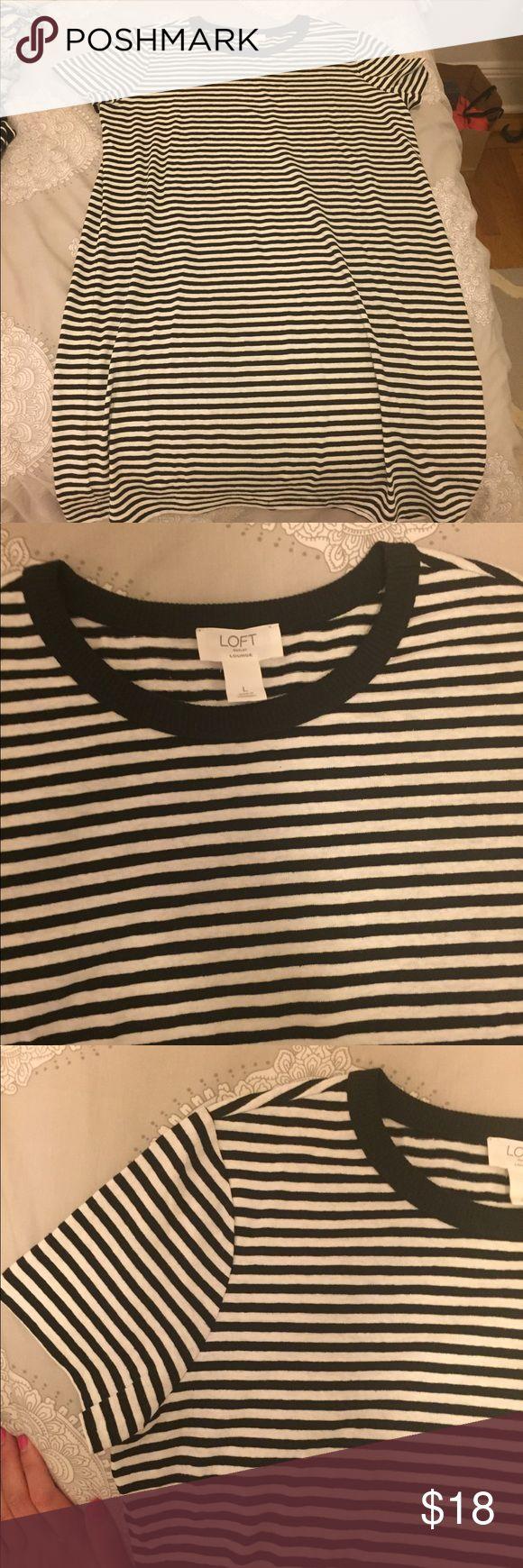 NWOT LOFT Outlet Striped T Shirt Dress Large Adorable short sleeve striped t shirt dress. Size Large. Never been worn! LOFT Dresses Mini
