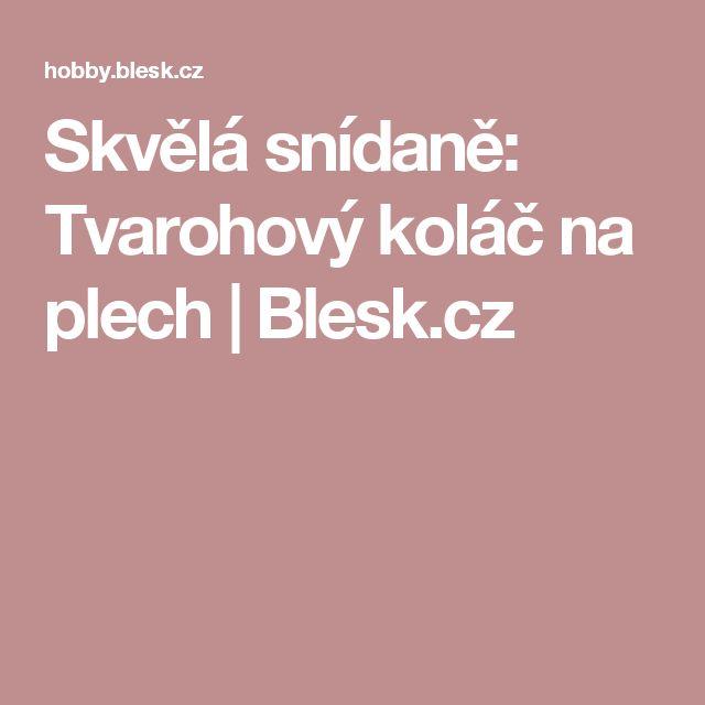 Skvělá snídaně: Tvarohový koláč na plech | Blesk.cz